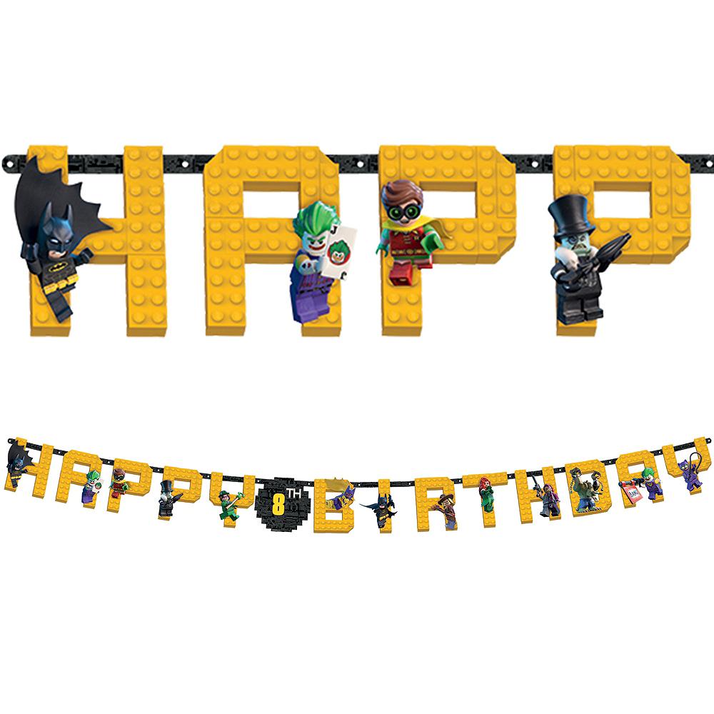 Lego Batman Movie Birthday Banner Kit Image #1
