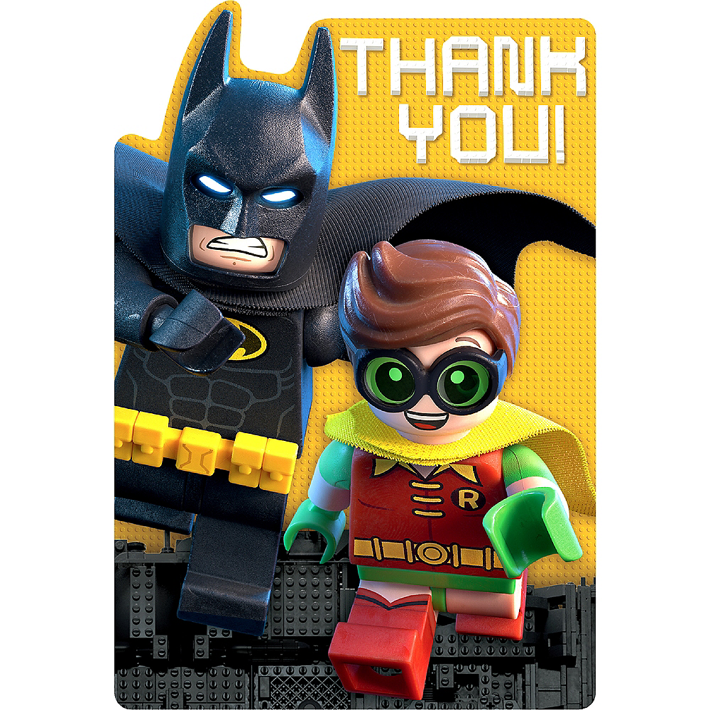 Nav Item for Lego Batman Movie Thank You Notes 8ct Image #1