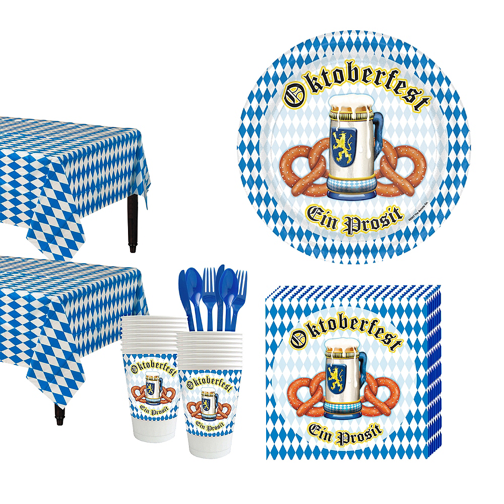 Oktoberfest Tableware Kit for 16 Guests Image #1