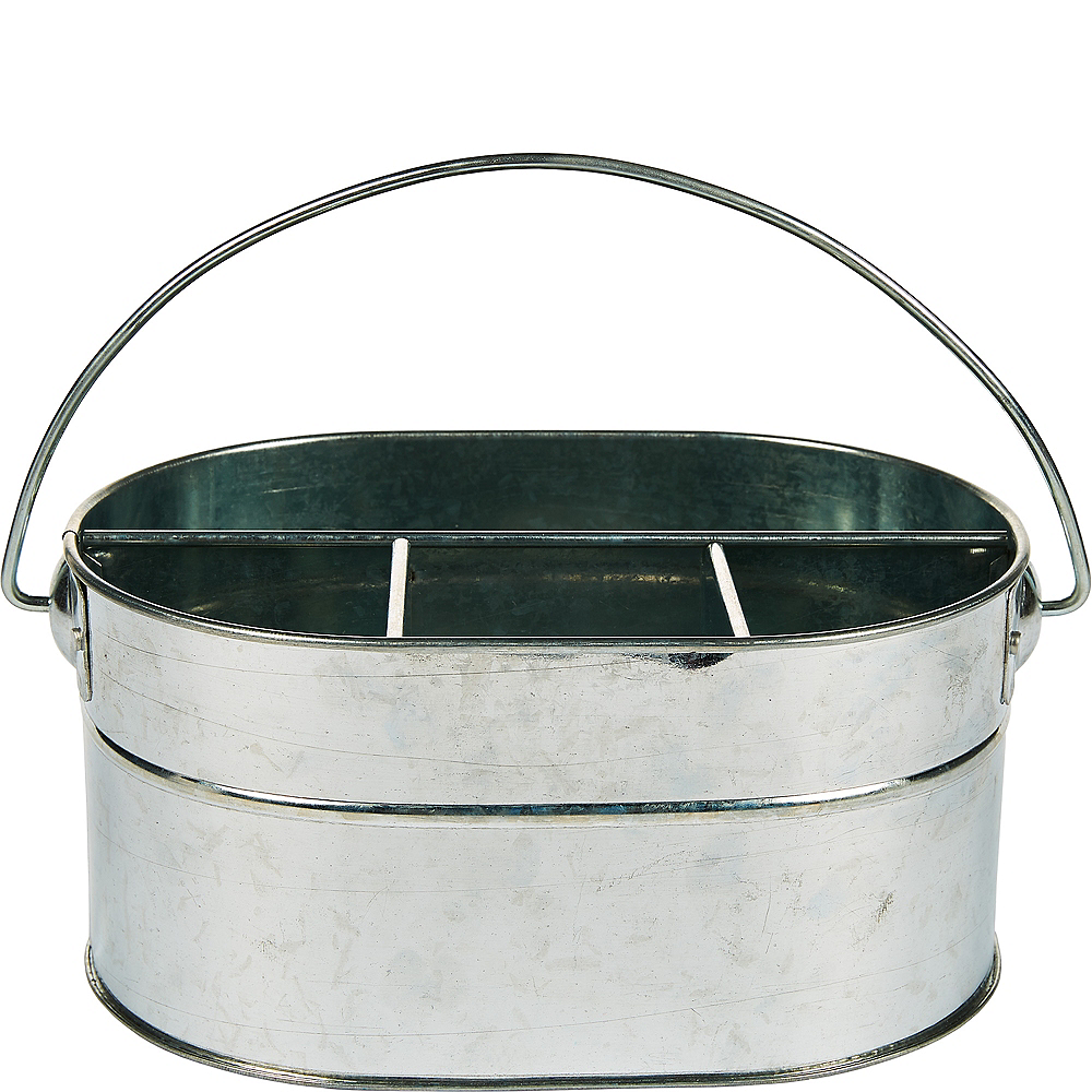 Galvanized Metal Utensil Caddy Image #1