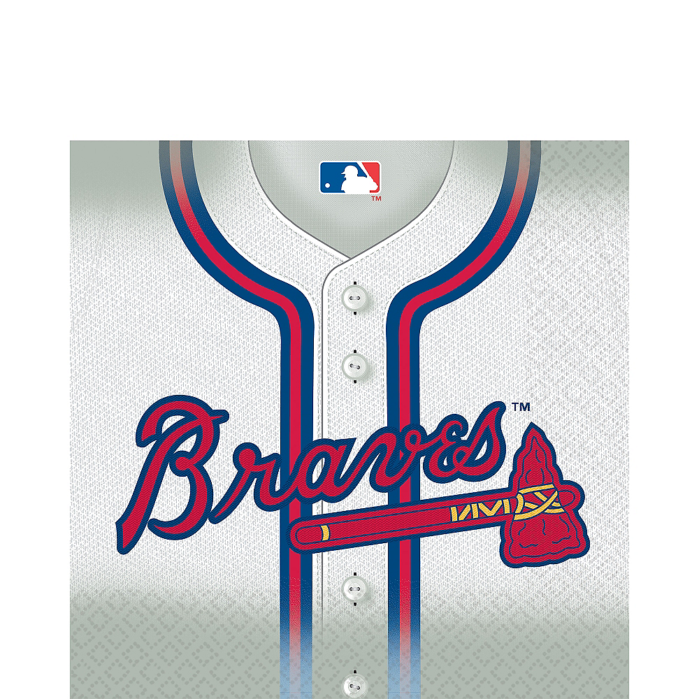 Atlanta Braves Lunch Napkins 16ct Image #1