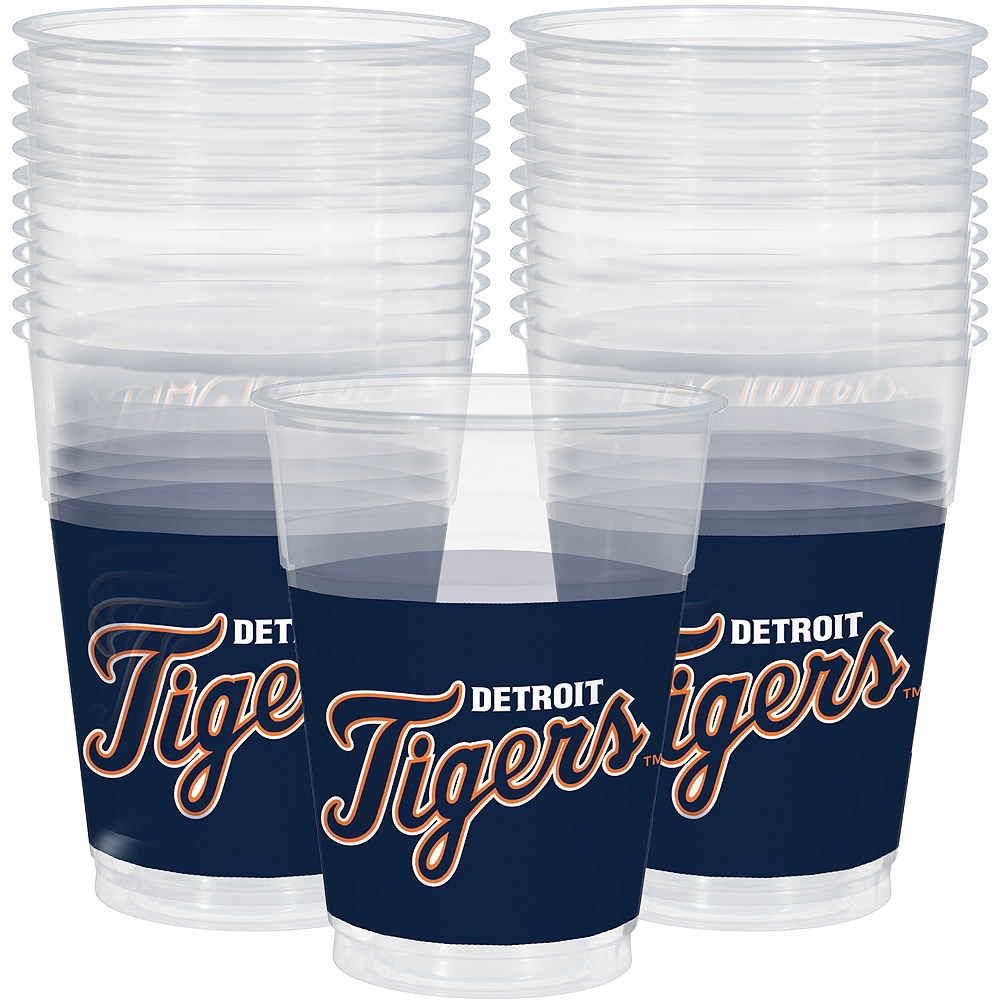 Detroit Tigers Plastic Cups 25ct Image #1