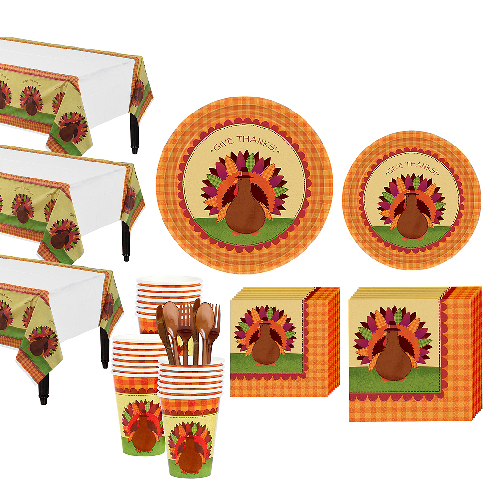 Turkey Dinner Tableware Kit for 36 Guests Image #1