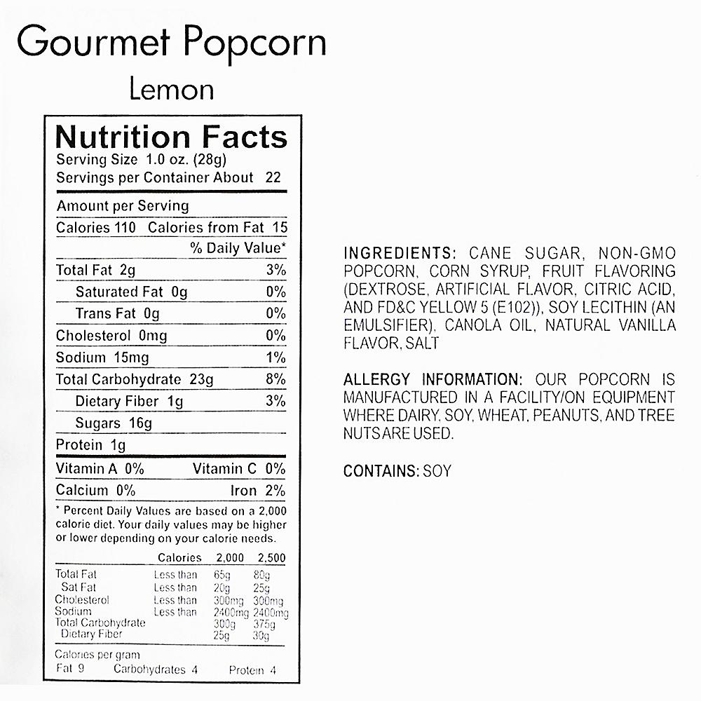 Lemon Gourmet Popcorn Image #4