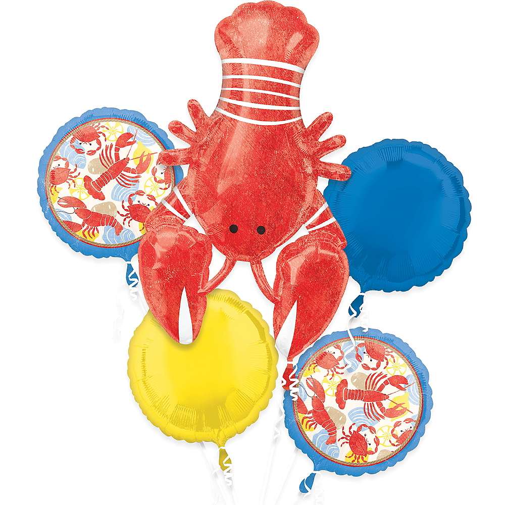 Seafood Fest Balloon Bouquet 5pc Image #1