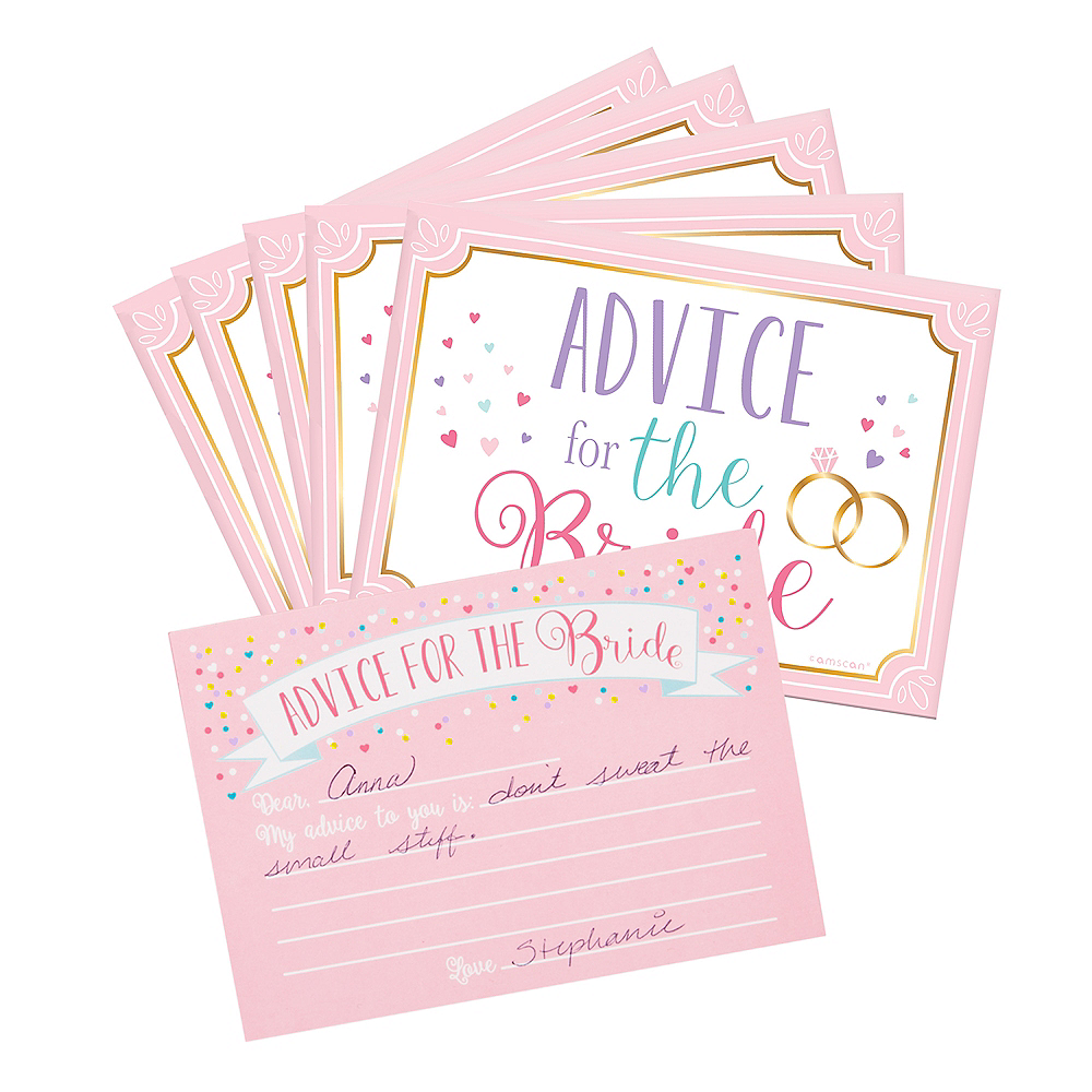 Nav Item for Bride-to-Be Advice Cards 24ct Image #1