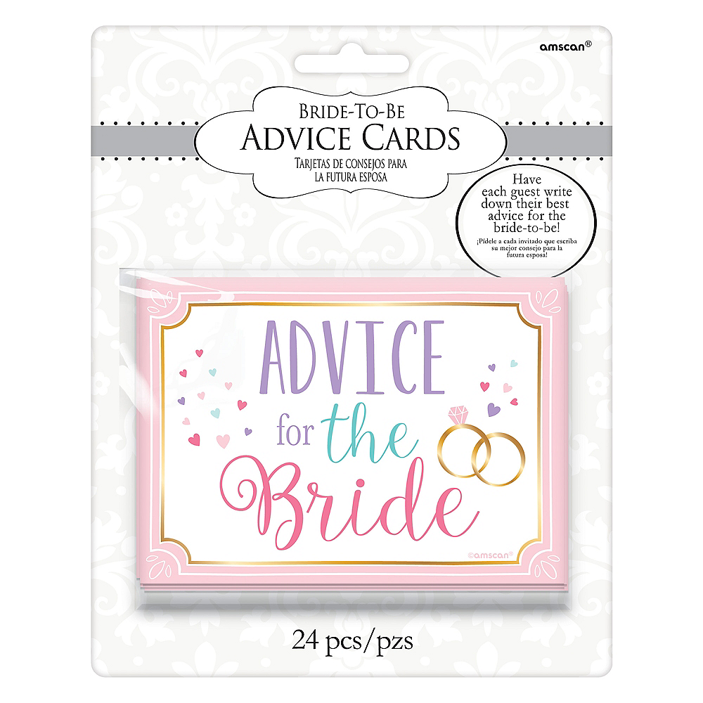 Nav Item for Bride-to-Be Advice Cards 24ct Image #2