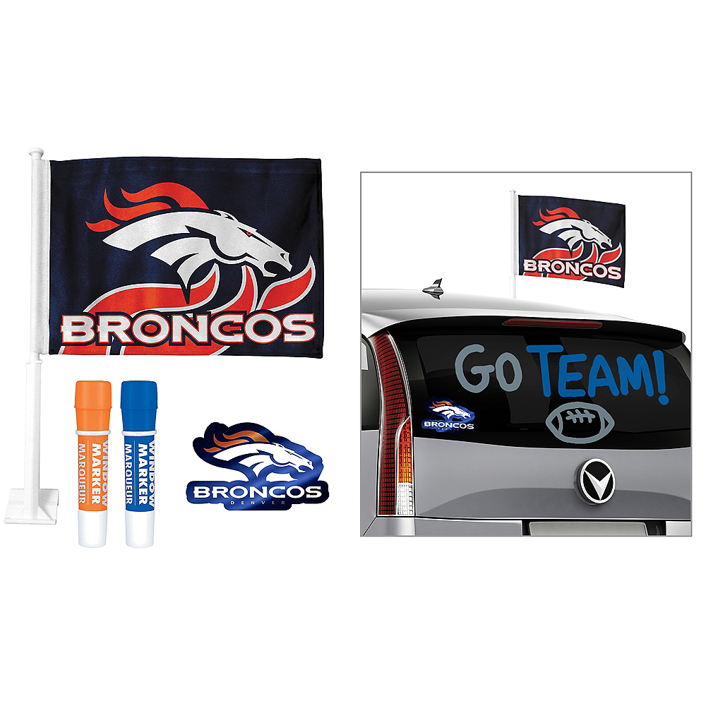 Nav Item for Denver Broncos Car Decorating Tailgate Kit Image #1