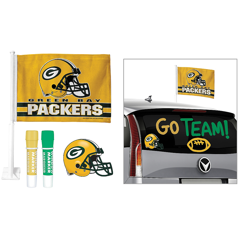 Green Bay Packers Car Decorating Tailgate Kit Image #1