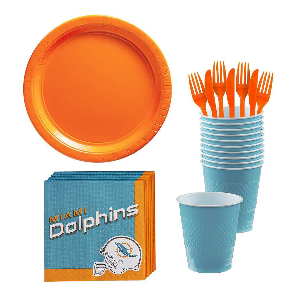 Miami Dolphins Party Kit for 18 Guests Image #1