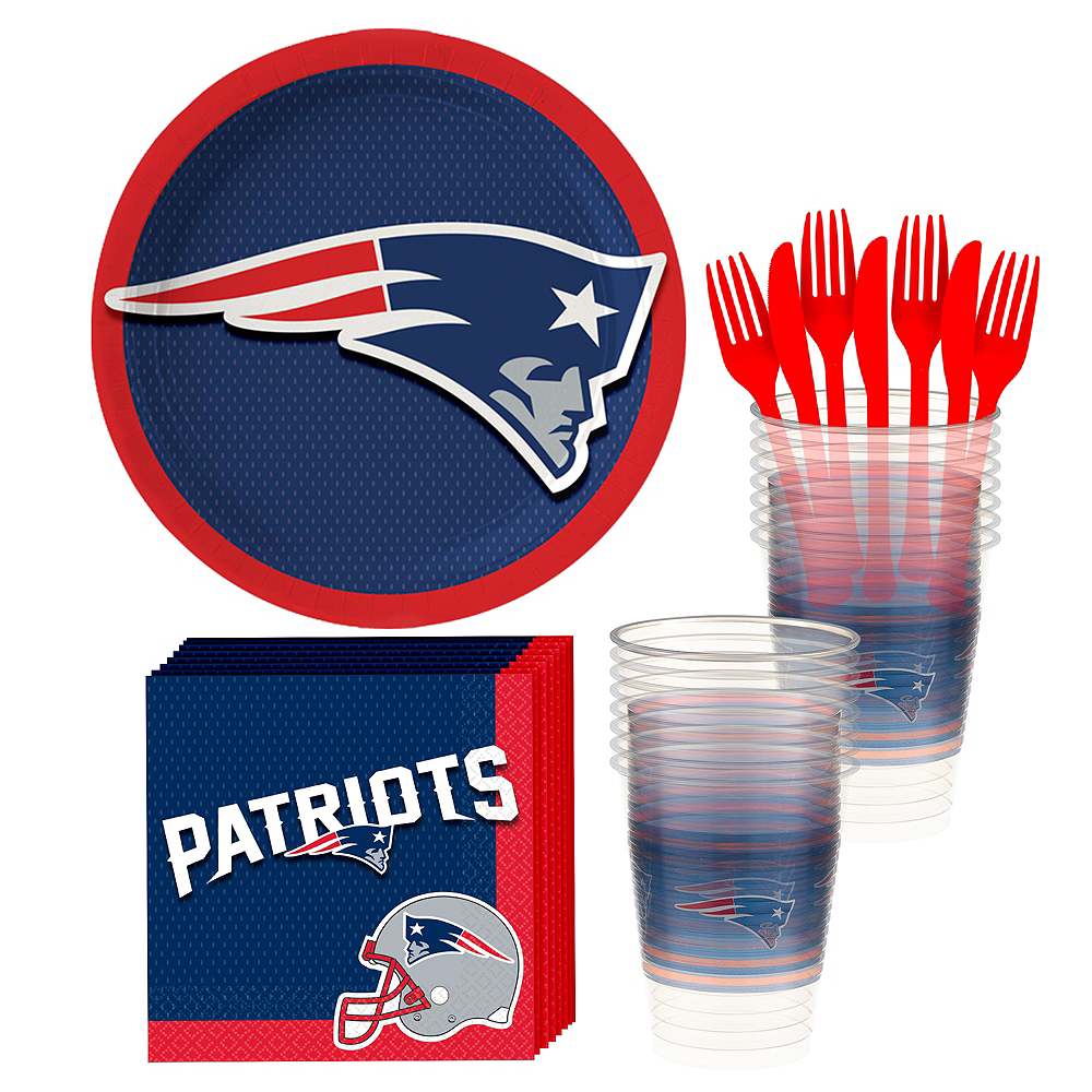 New England Patriots Basic Party Kit for 18 Guests Image #1
