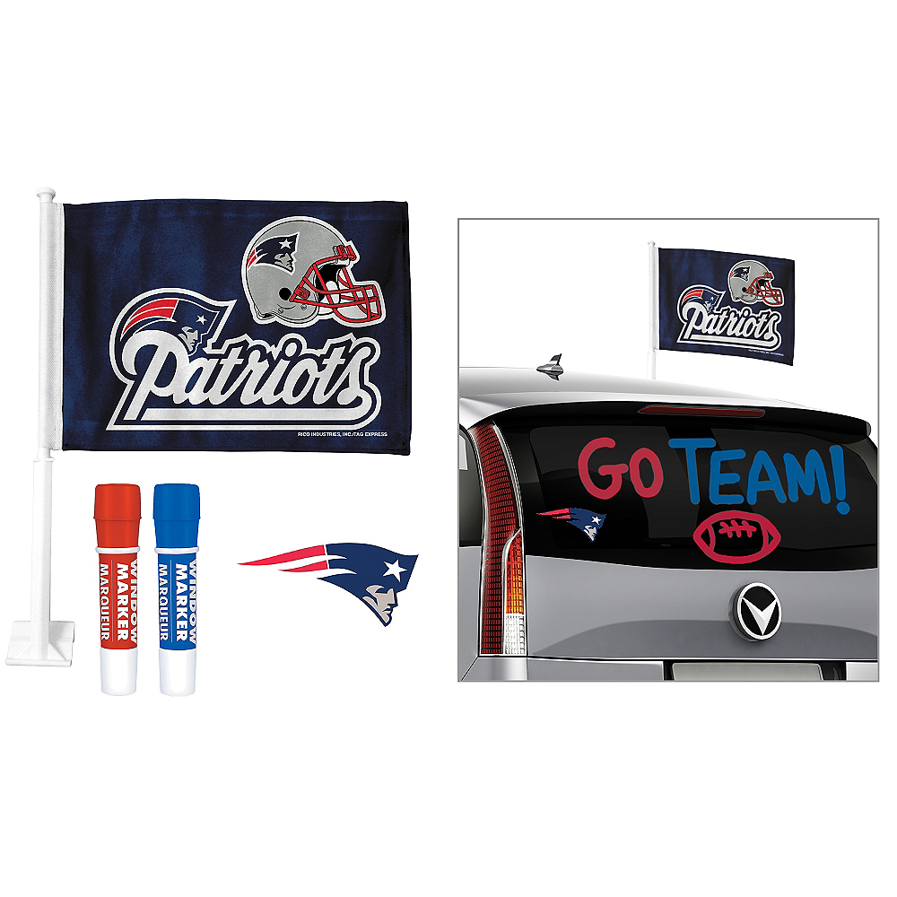 check out 1c112 abc7a New England Patriots Car Decorating Tailgate Kit
