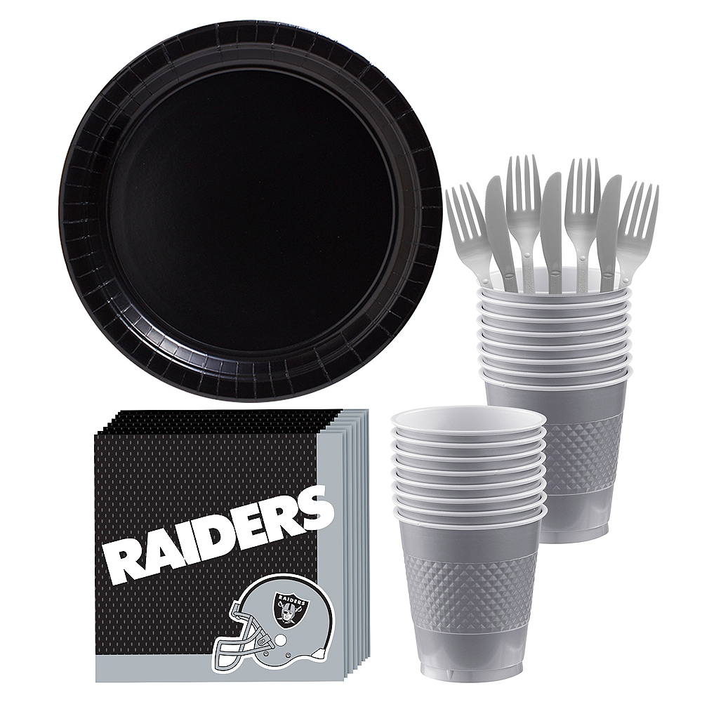 Oakland Raiders Party Kit for 18 Guests Image #1