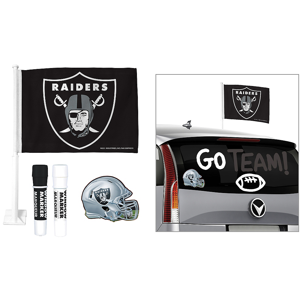 Oakland Raiders Car Decorating Tailgate Kit Image #1