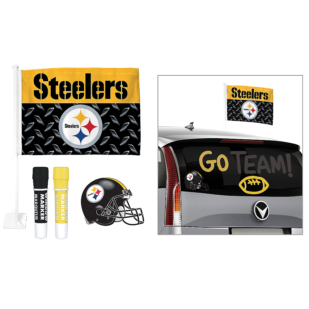 Pittsburgh Steelers Car Decorating Tailgate Kit Image #1