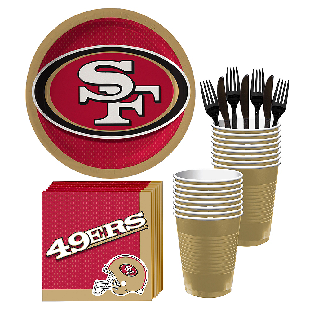 San Francisco 49ers Party Kit for 18 Guests Image #1