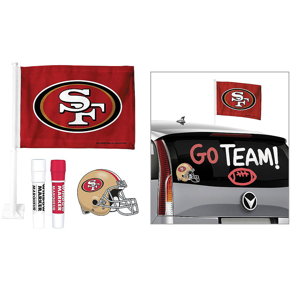 San Francisco 49ers Car Decorating Tailgate Kit Image #1