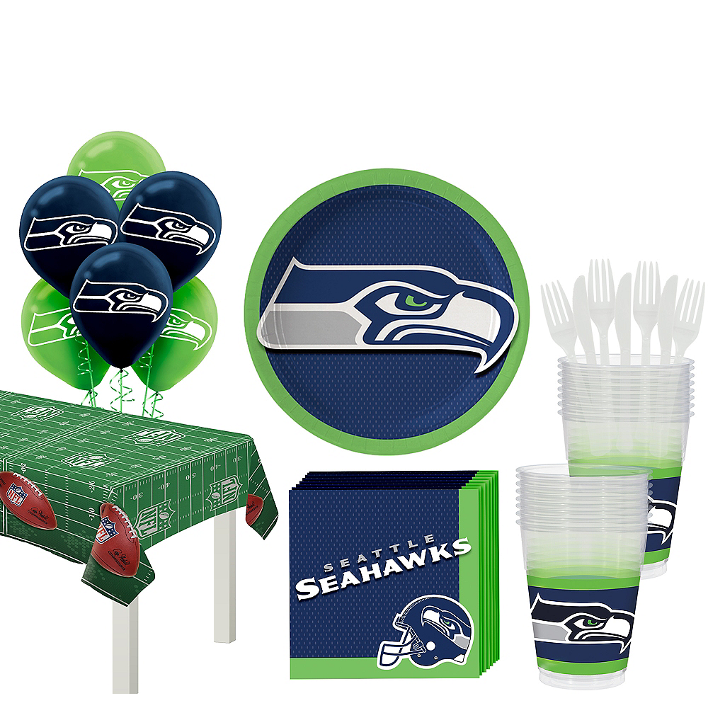 Super Seattle Seahawks Party Kit for 18 Guests Image #1