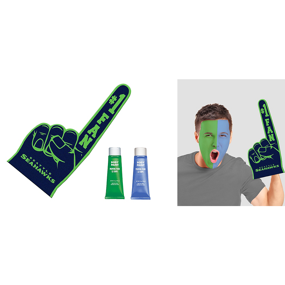 Seattle Seahawks Game Day Kit Nfl Seattle Seahawks Party Supplies Party City