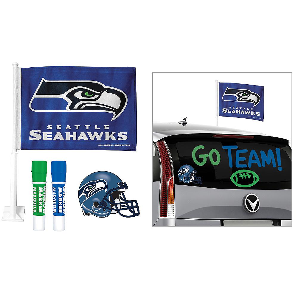 Seattle Seahawks Car Decorating Tailgate Kit Image #1