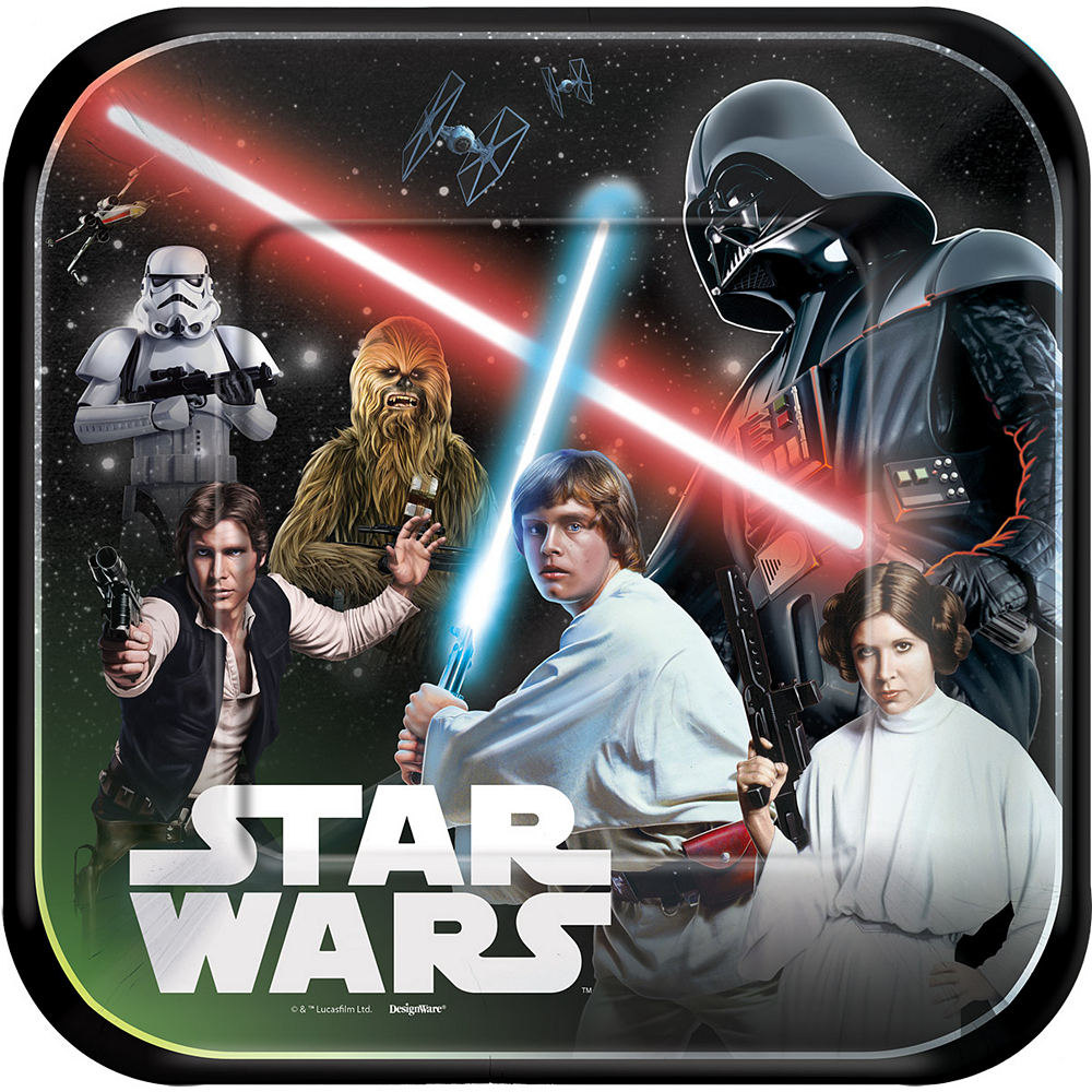 Star Wars Lunch Plates 8ct Image #1