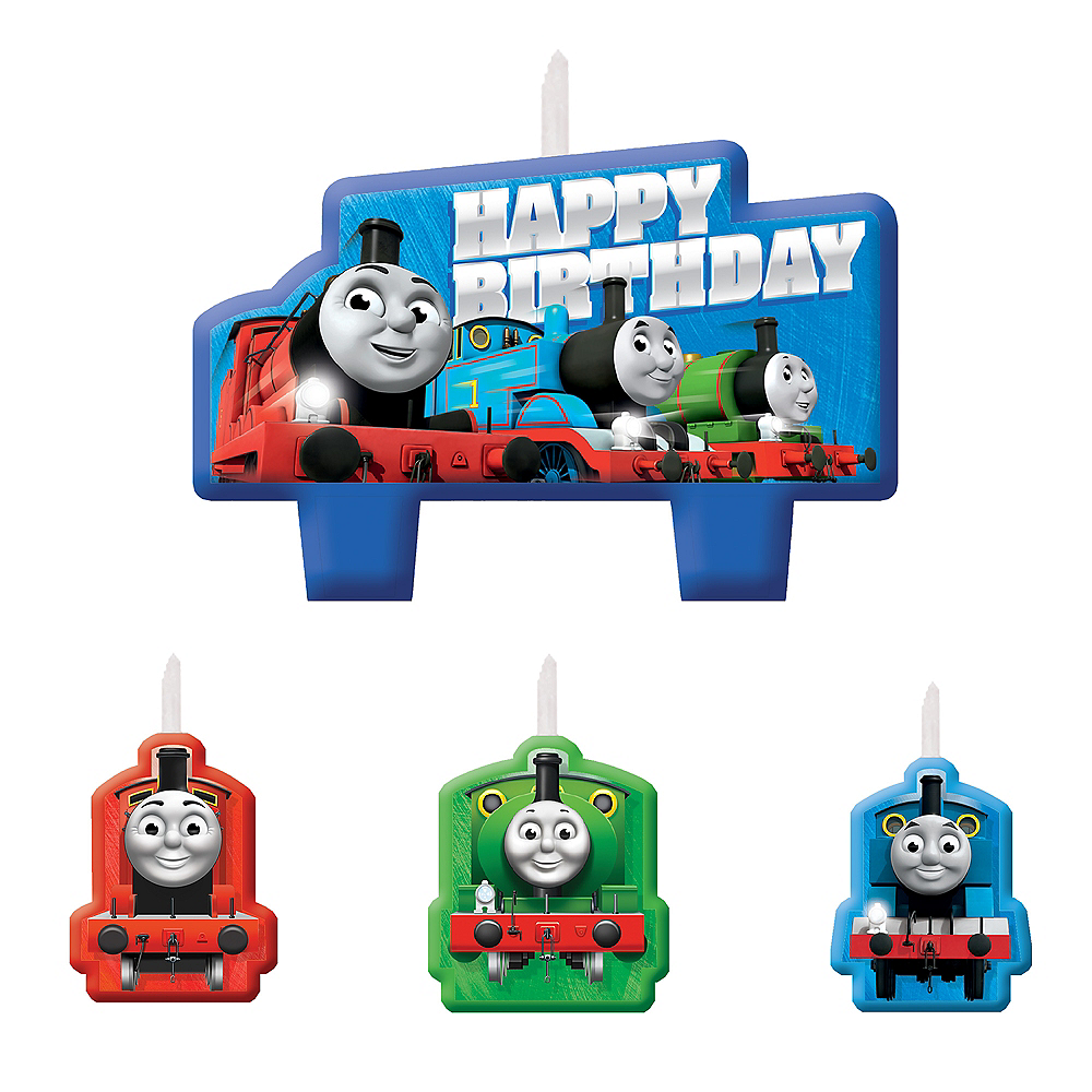 Excellent Thomas The Train Birthday Candles 4Ct Party City Personalised Birthday Cards Paralily Jamesorg