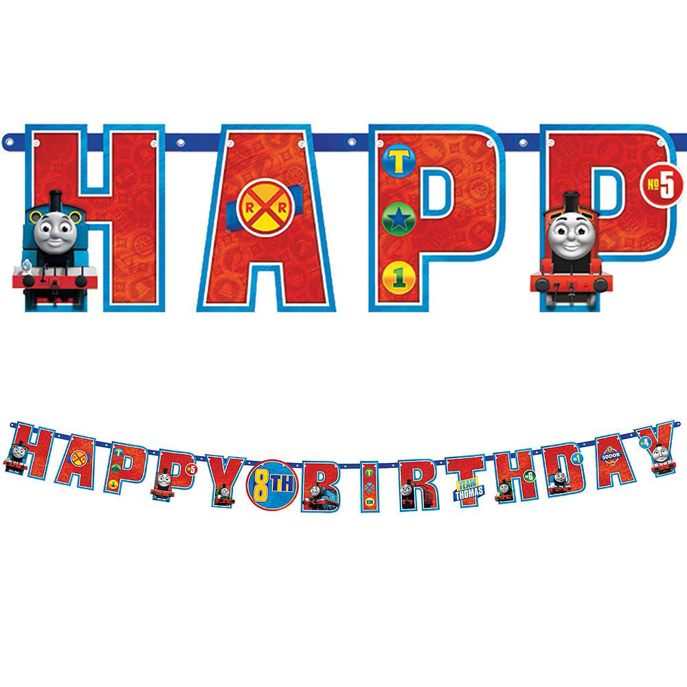 Thomas the Train Birthday Banner Kit 10 1/2ft x 10in | Party City