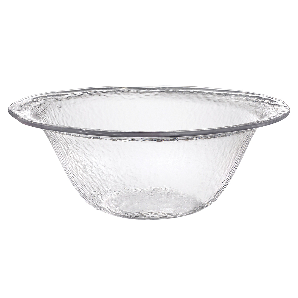 CLEAR Premium Plastic Hammered Serving Bowl Image #1