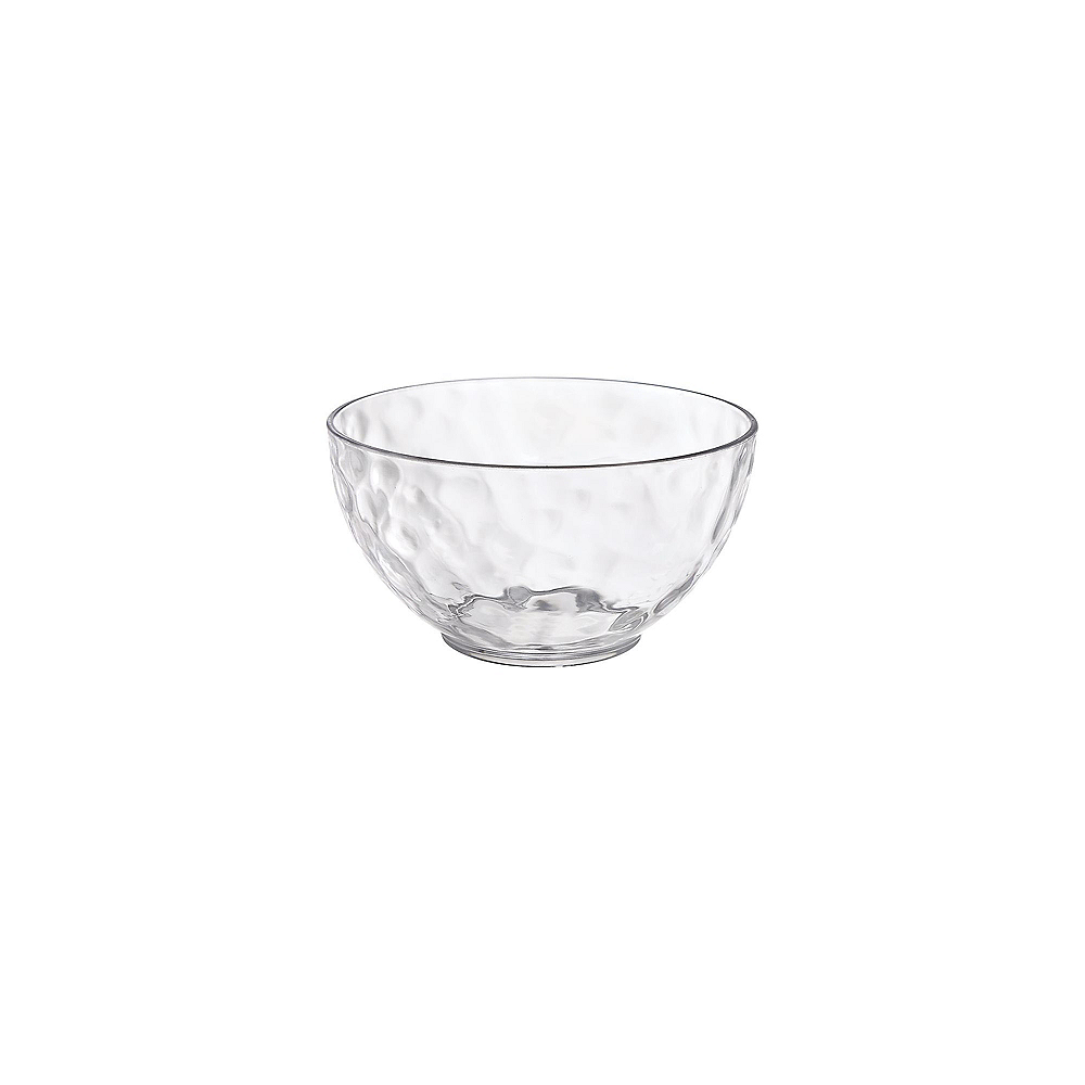 Small CLEAR Premium Plastic Hammered Bowls 3ct Image #1