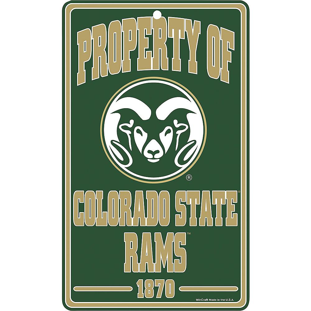 Nav Item for Property of Colorado State Rams Sign Image #1