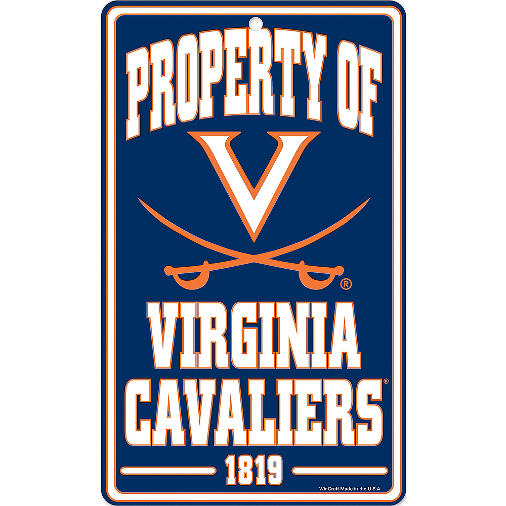 Property of Virginia Cavaliers Sign Image #1