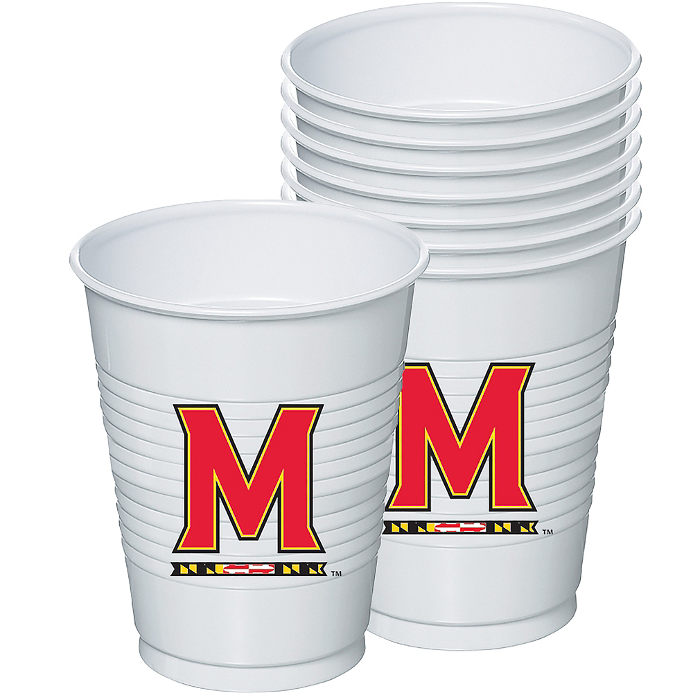 Maryland Terrapins Plastic Cups 8ct Image #1