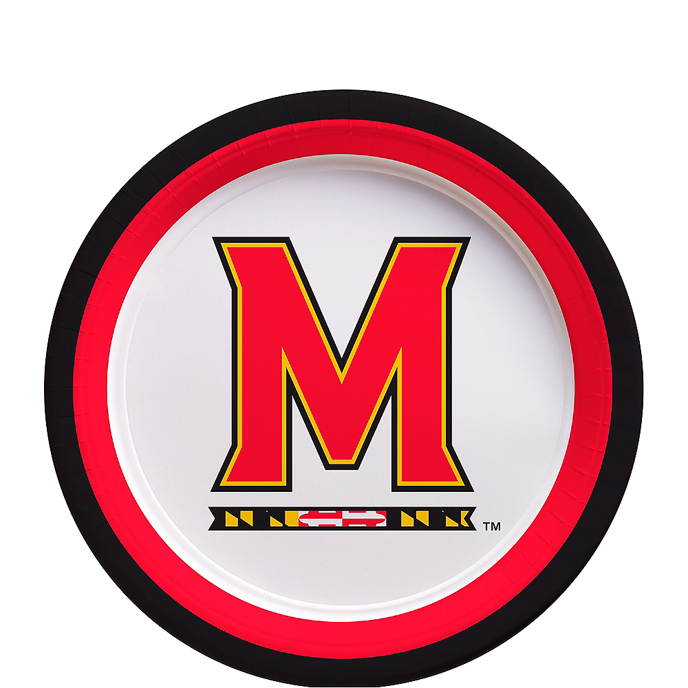 Maryland Terrapins Dessert Plates 12ct Image #1