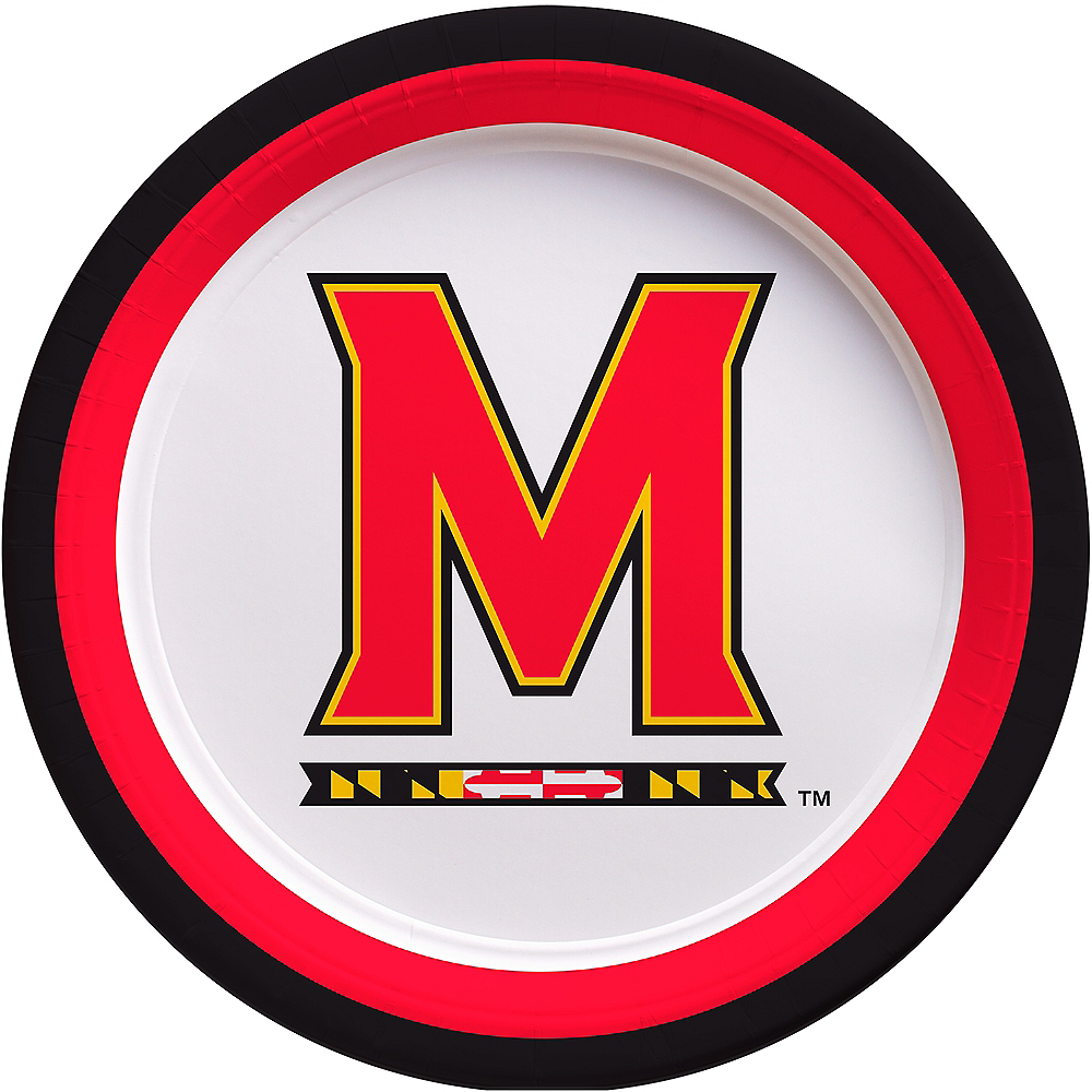 Maryland Terrapins Lunch Plates 10ct Image #1