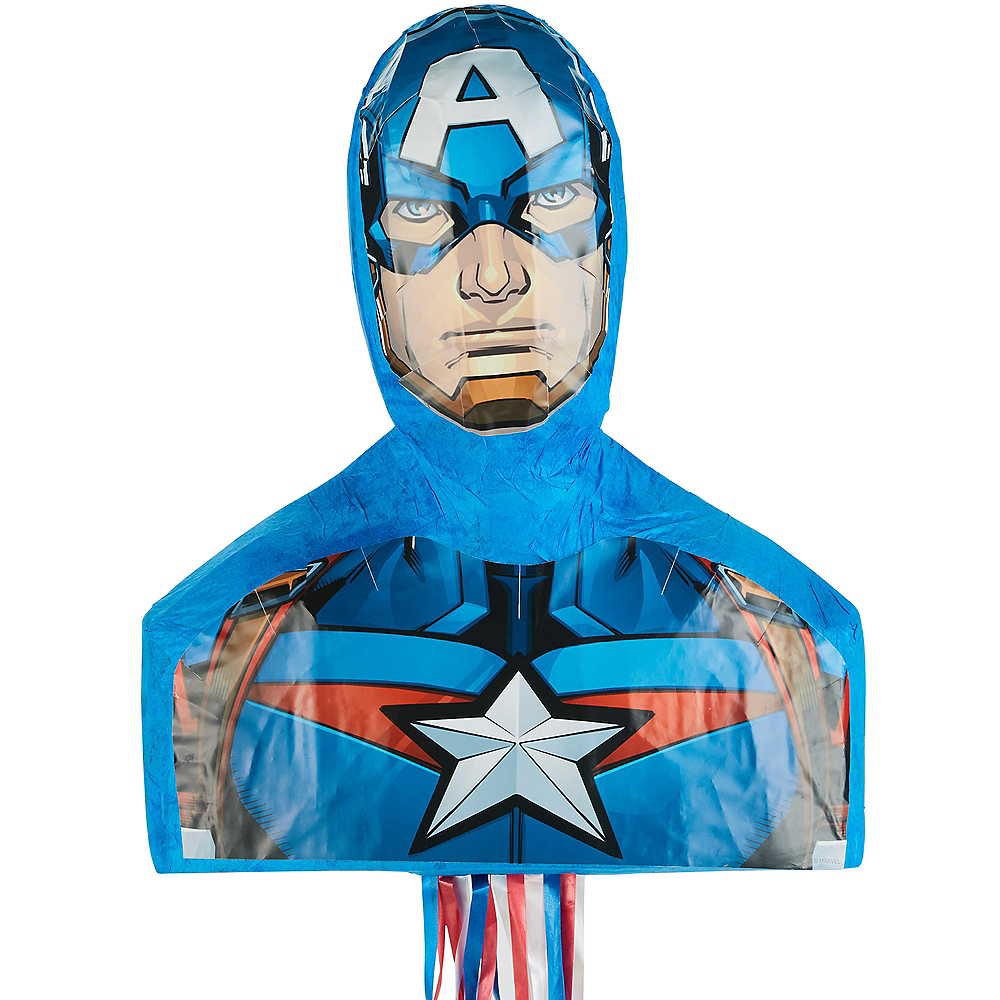 Nav Item for Pull String Captain America Pinata Image #1