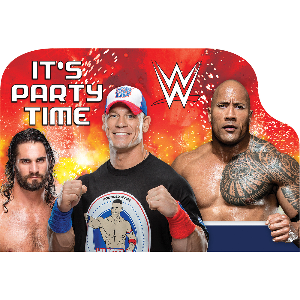 WWE Invitations 8ct Image #1
