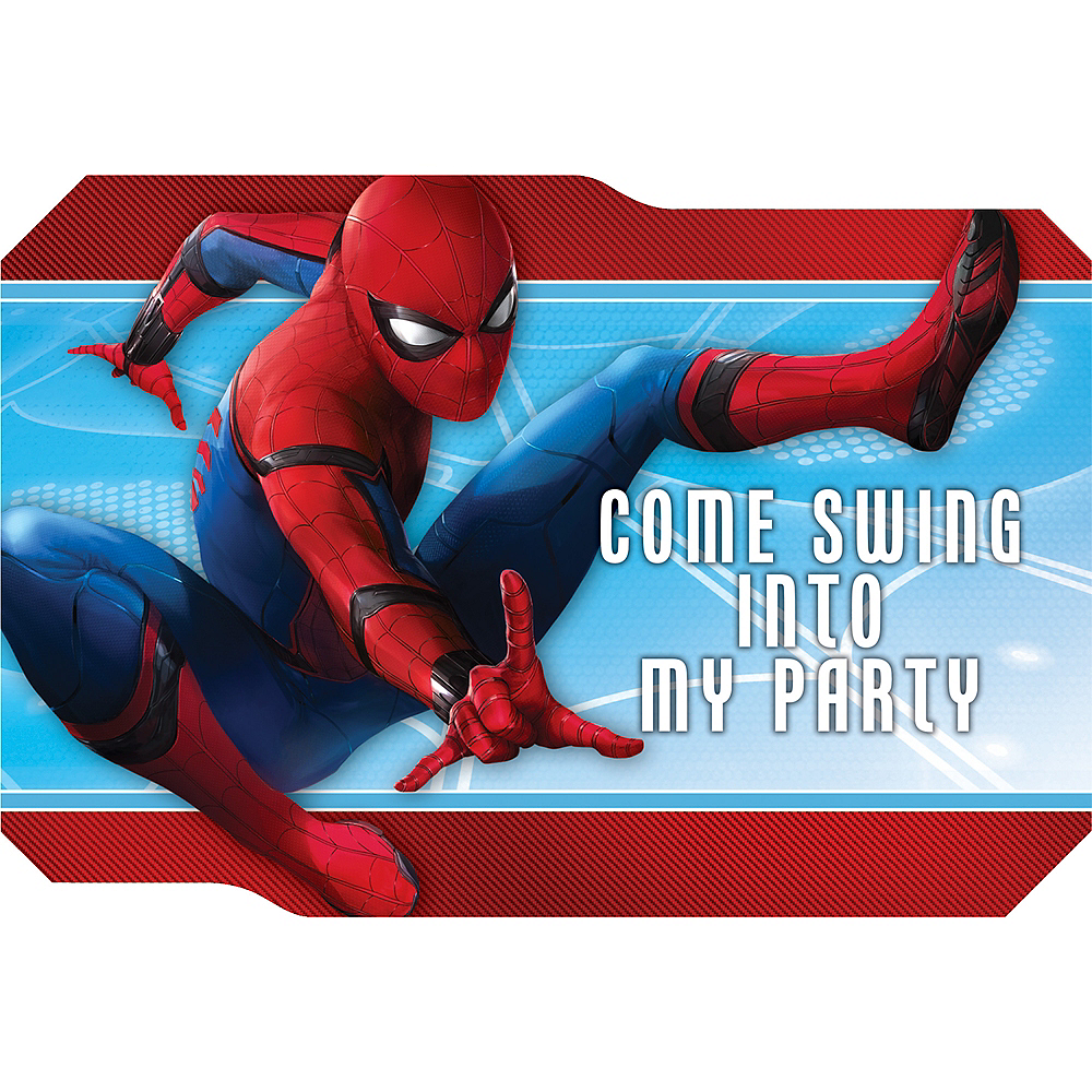 Spider-Man Homecoming Invitations 8ct | Party City