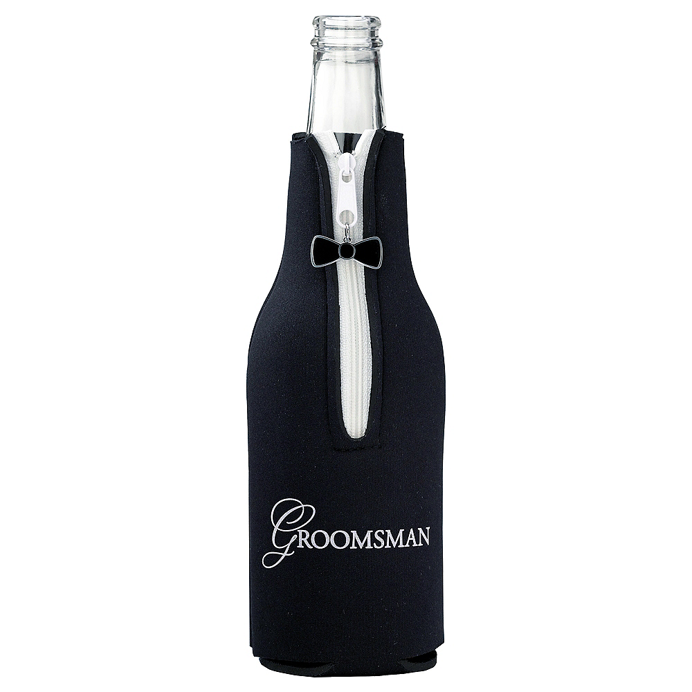 Groomsman Bottle Coozie Image #1