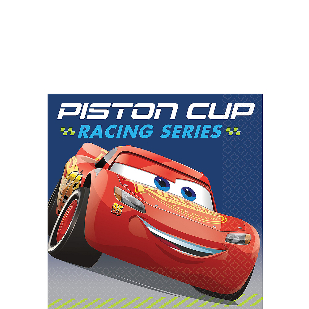 Cars 3 Beverage Napkins 16ct Image #1