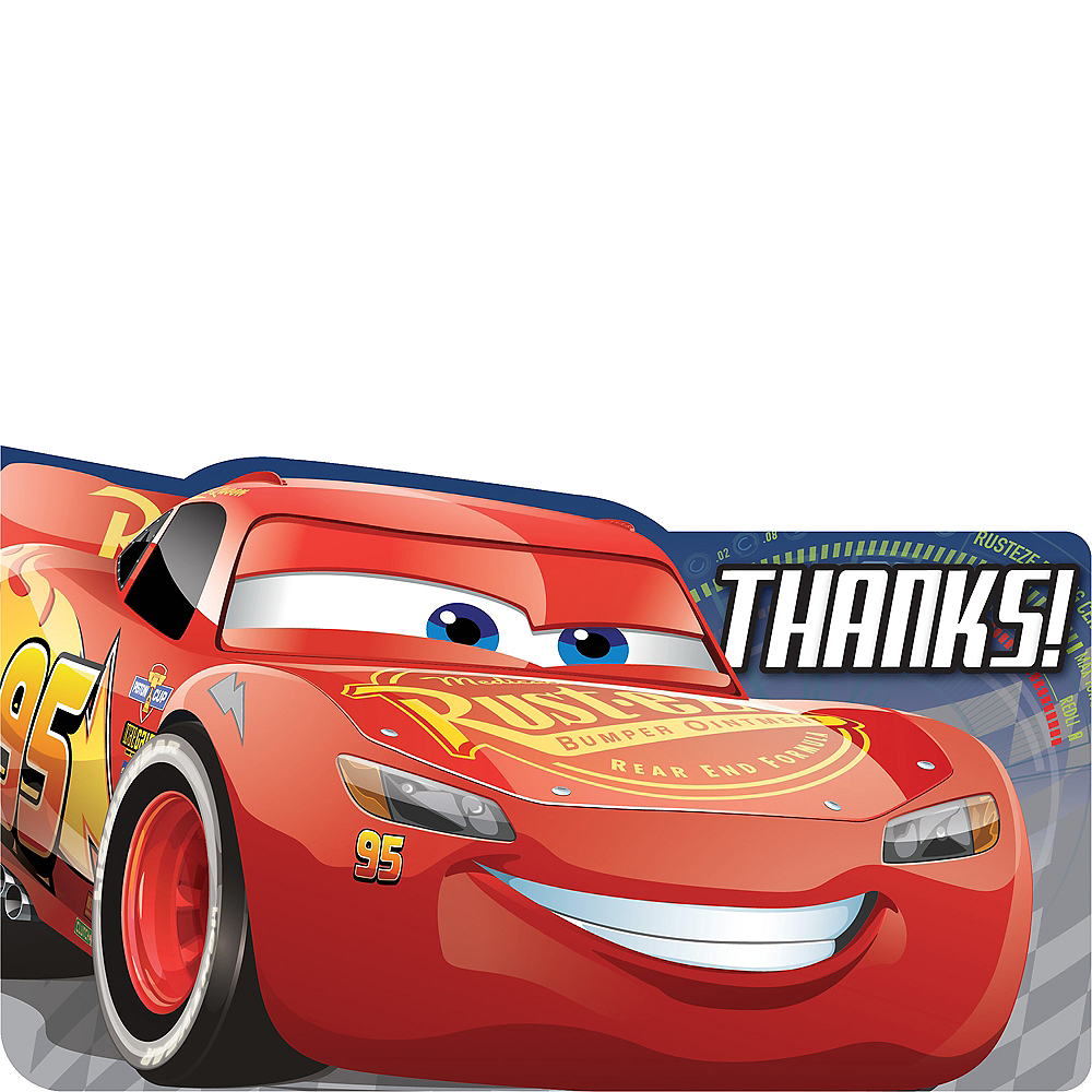 Cars 3 Thank You Notes 8ct Image #1