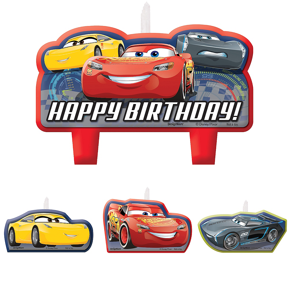 Cars 3 Birthday Candles 4ct Image #1