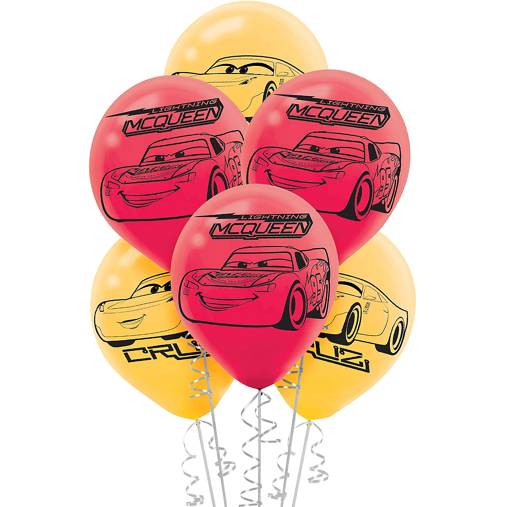 Nav Item for Cars 3 Balloons 6ct Image #1