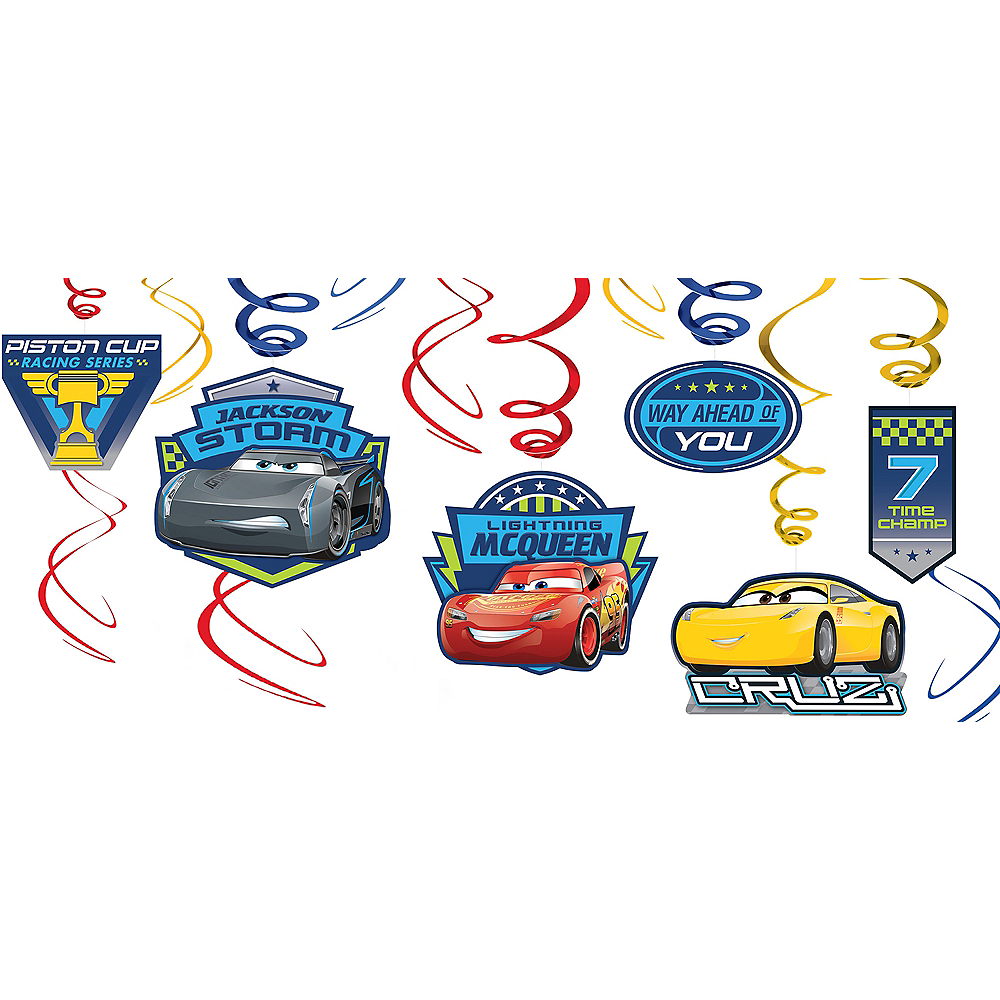 Nav Item for Cars 3 Swirl Decorations 12ct Image #1