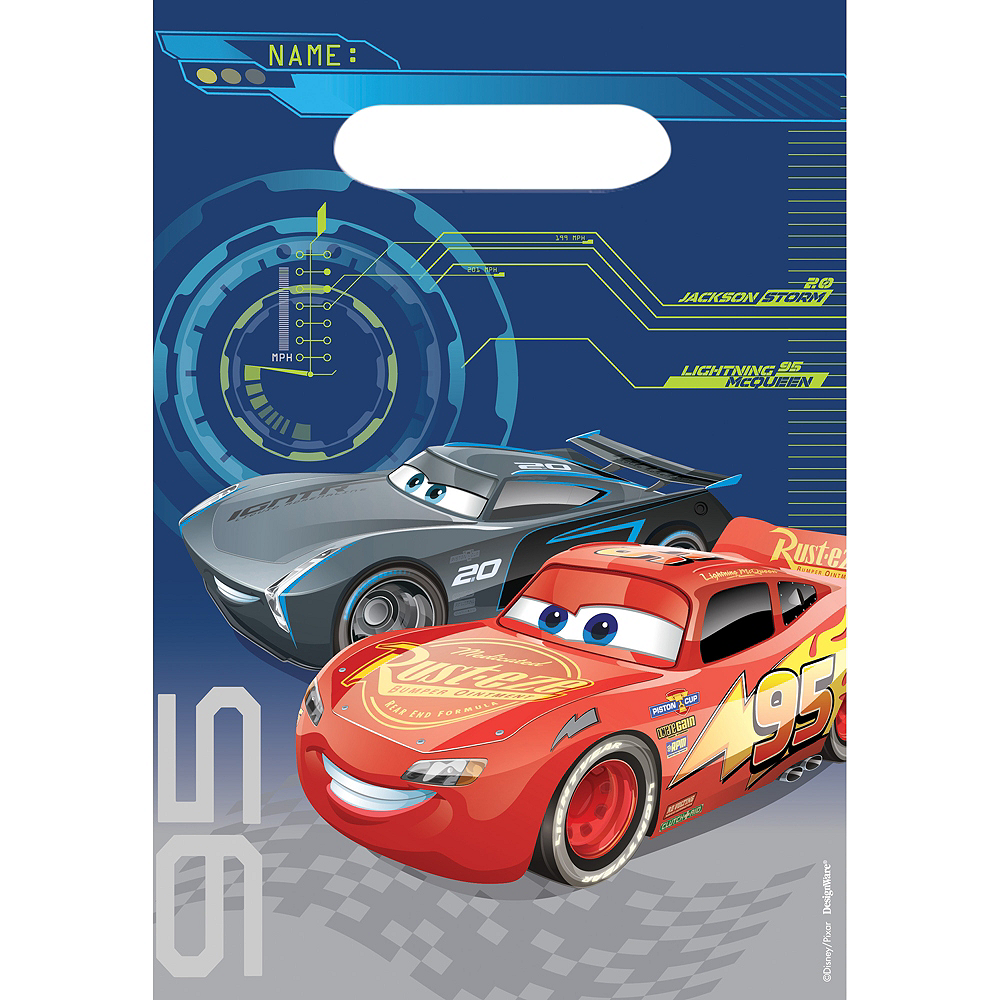Cars 3 Favor Bags 8ct Image #1