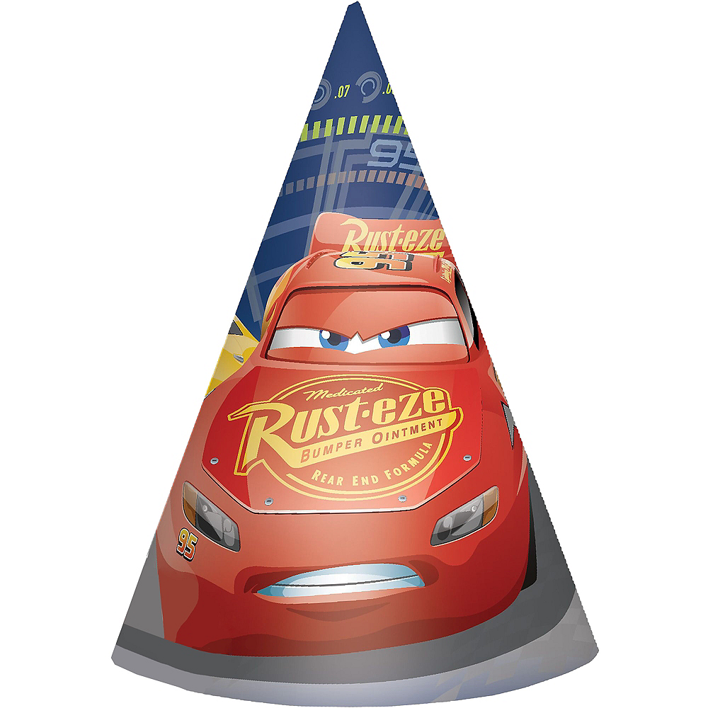 Cars 3 Party Hats 8ct Image #1