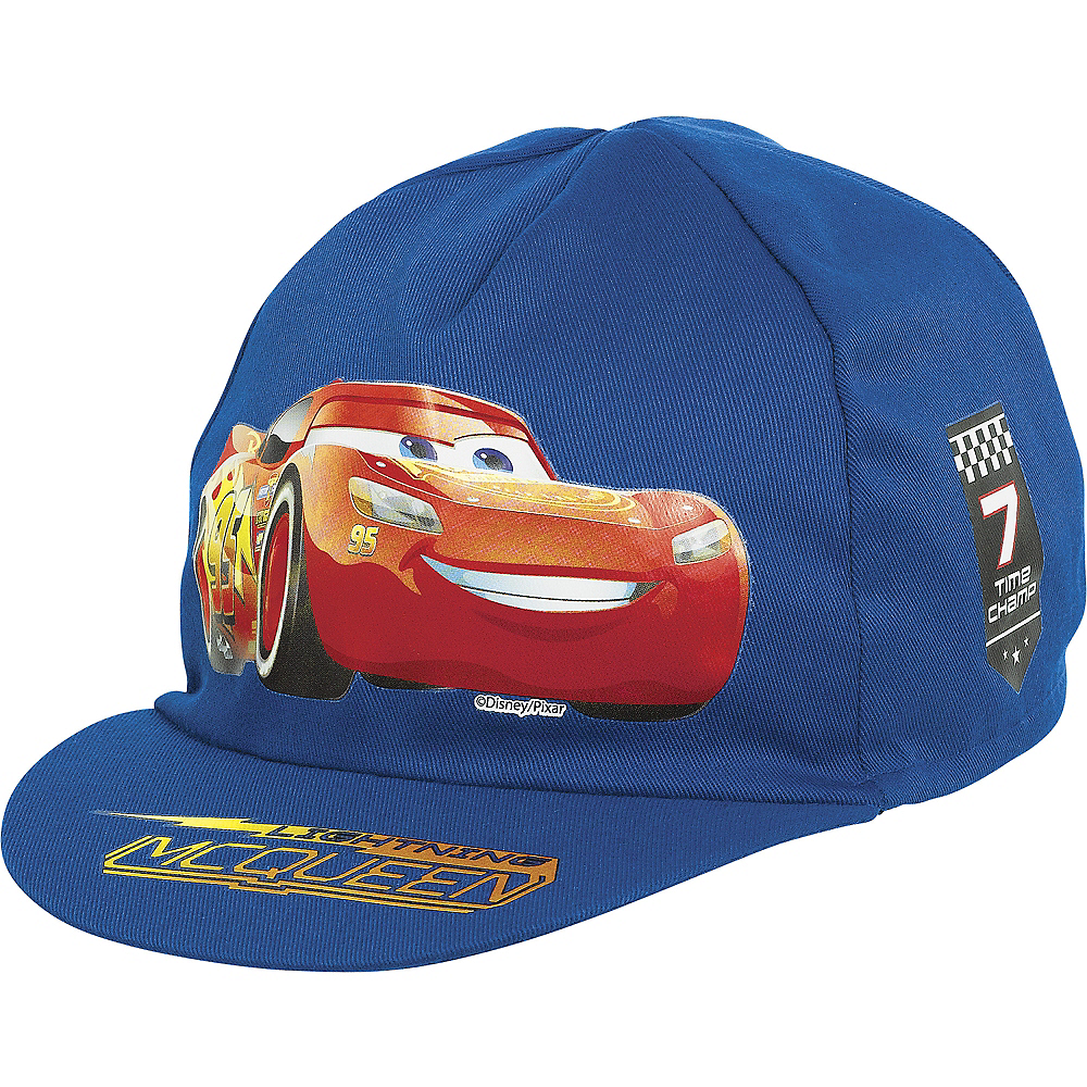 72240fe6987 Lightning McQueen Hat 7in x 4in - Cars 3