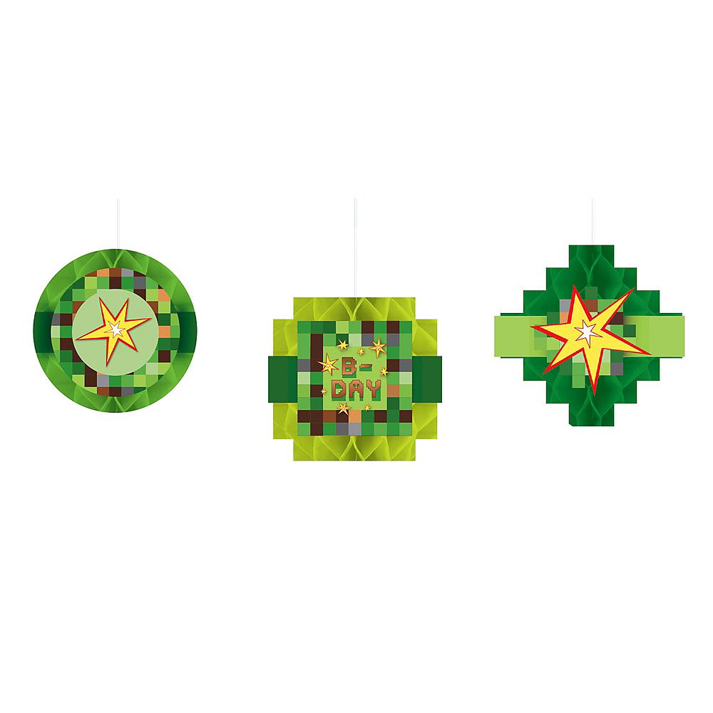 Pixelated Honeycomb Decorations 3ct Image #1