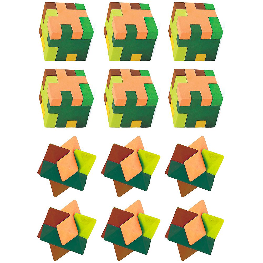 Pixelated Puzzle Erasers 12ct Image #1