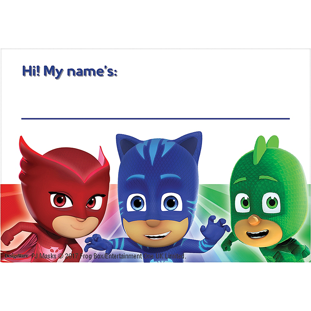 PJ Masks Party Welcome Kit for 12 Guests Image #4