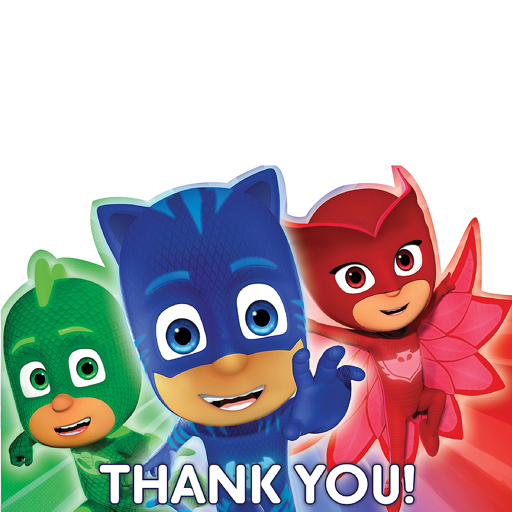 PJ Masks Thank You Notes 8ct Image #1